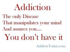 justification in addiction