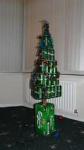 Beer christmas tree